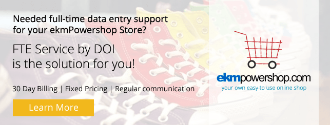 Dedicated Team for ekmPowershop Product Data Entry