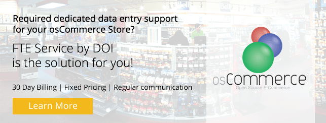 Dedicated Team for osCommerce Product Data Entry