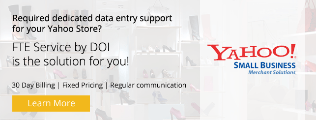 Dedicated Team for Yahoo Store Product Data Entry